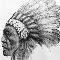 Chisel point artwork - Indian study